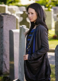 Lucy Liu as Joan Watson in Solve For X CBS Elementary Season 2 Episode 2
