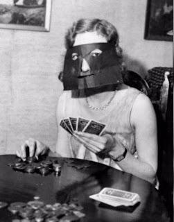 Máscara para jugar al póker