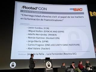 RootedCon 2016 - RootedPanel 1: Ciberseguridad ofensiva civil y sus participantes