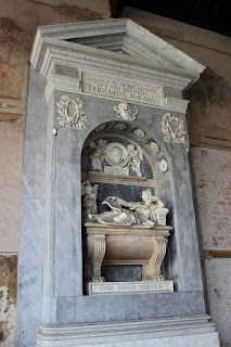 Algarotti's tomb, paid for by Frederick the Great, at Campo Santo in Pisa