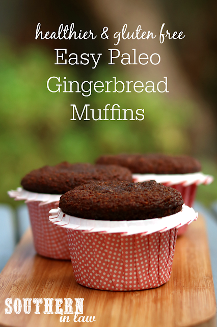 Easy One Bowl Paleo Gingerbread Muffins Recipe – gluten free, grain free, paleo, dairy free, sugar free, low fat, healthy dessert recipes, clean eating recipe, healthy Christmas recipe