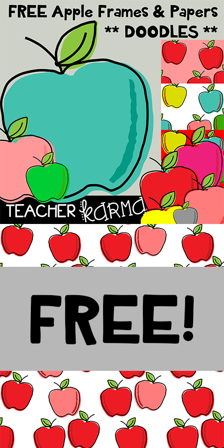 Grab Your Free Apple Graphics Frames Digital Papers Kit