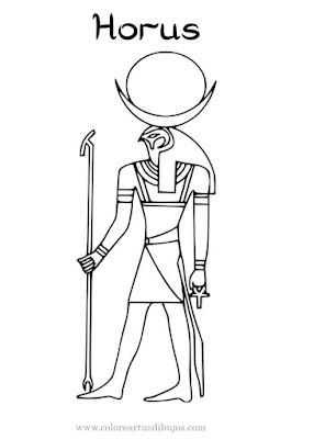 colorear Horus