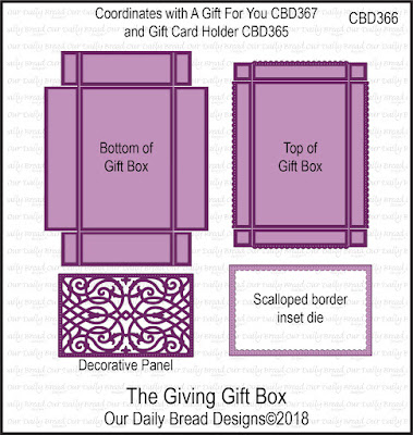 ODBD Custom Die: The Giving Gift Box