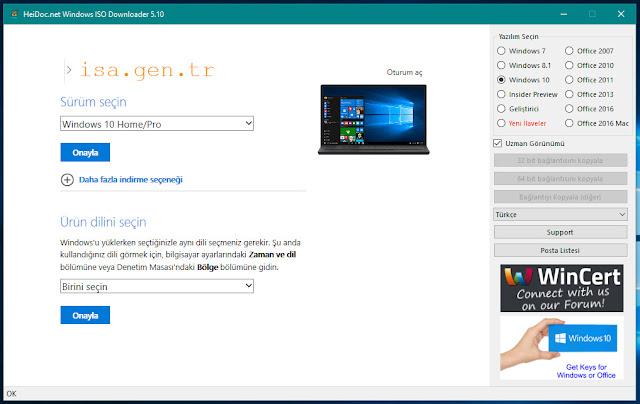 windows 10 türkçe iso indir