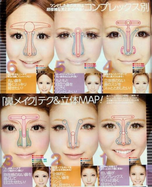 gyaru magazine contouring