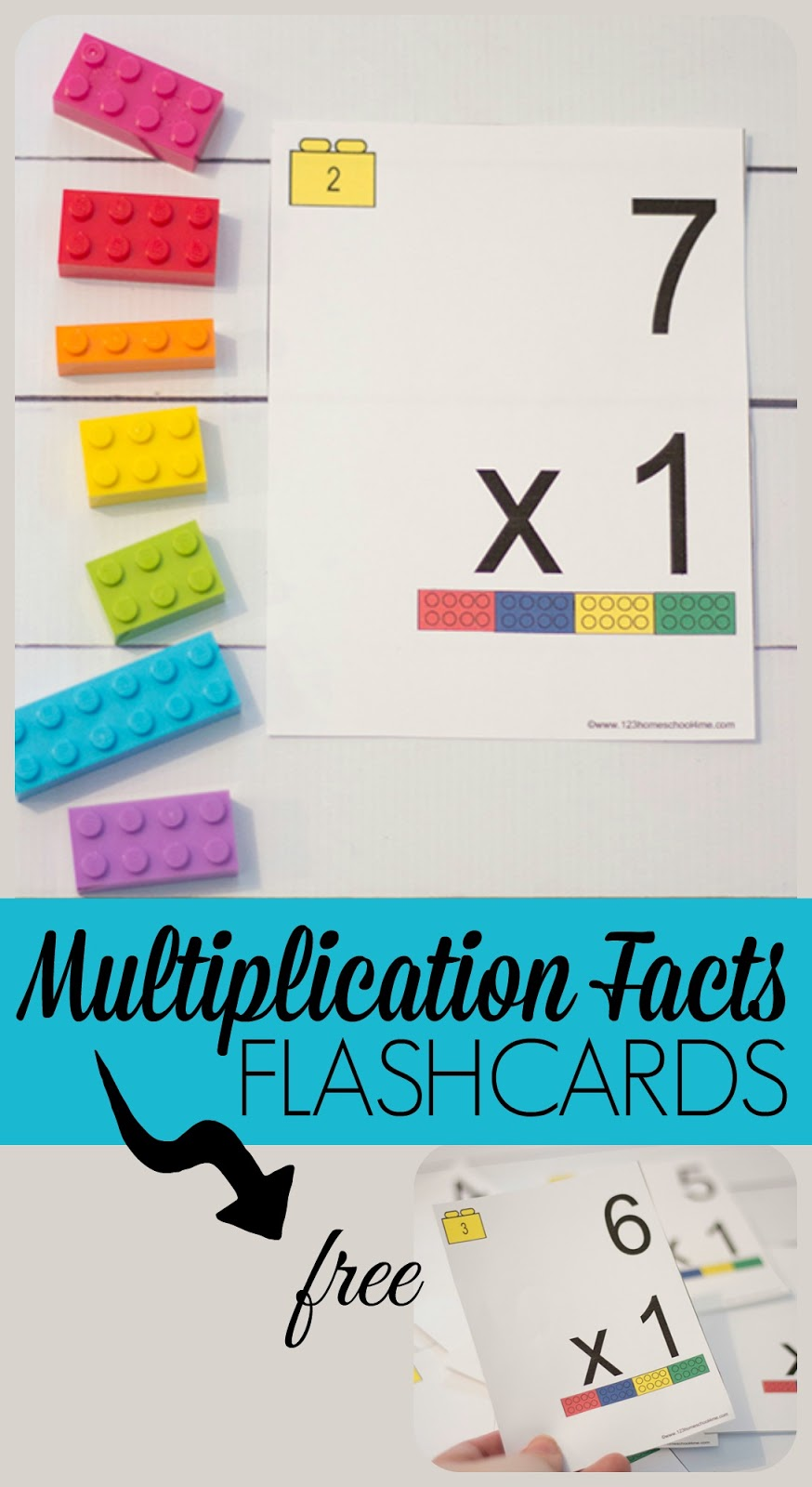 FREE Multiplication Facts Flashcards