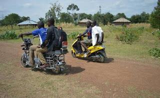 Kenyan University students build solar motorcycle