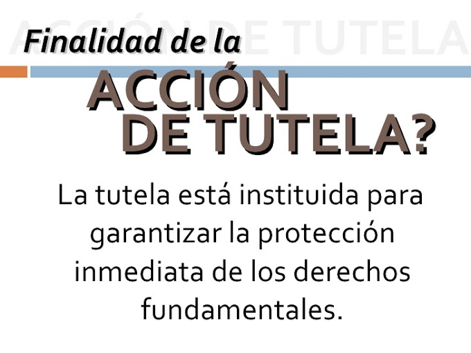 FORMATO MODELO ACCIÓN DE TUTELA EN COLOMBIA