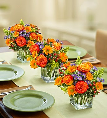 Quick and Easy Thanksgiving Floral Centerpiece