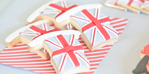 biscuit sable decoration drapeau londonnien