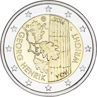 2 euro commémorative 2016 de Finlande - Georg Henrik von Wright