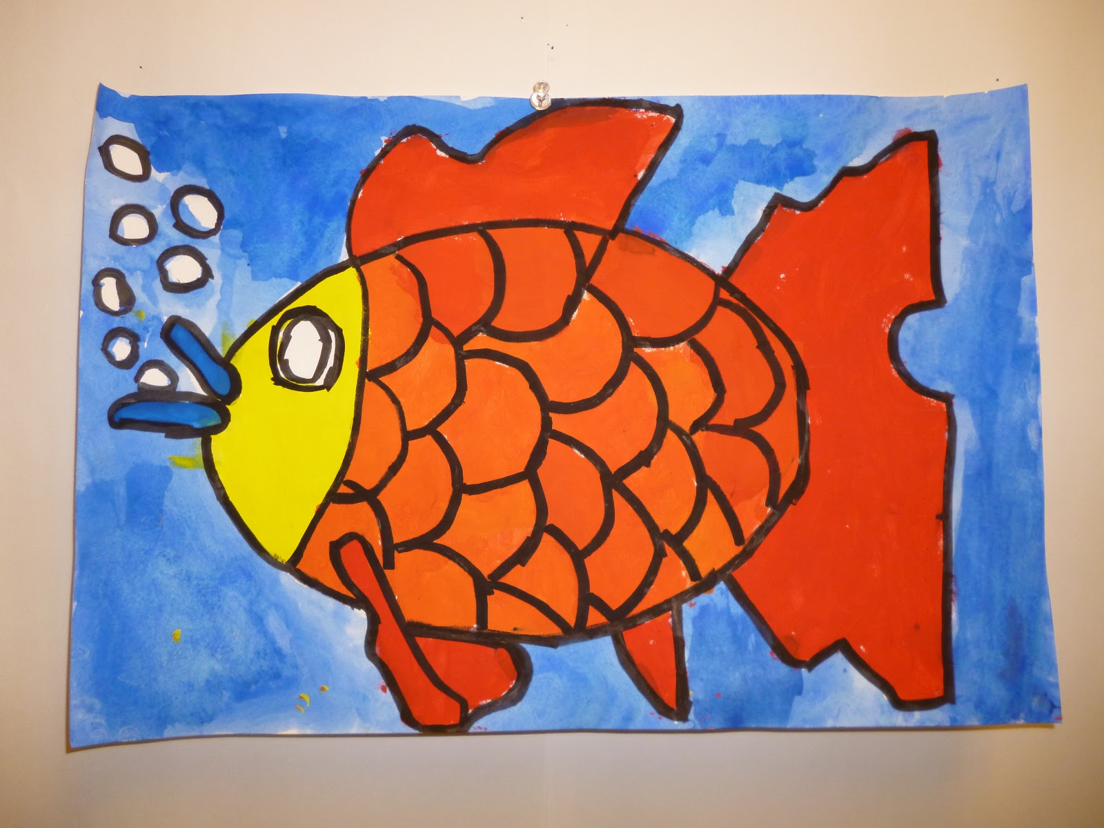 Two Primary Colors A Secondary Colored Scale Fish