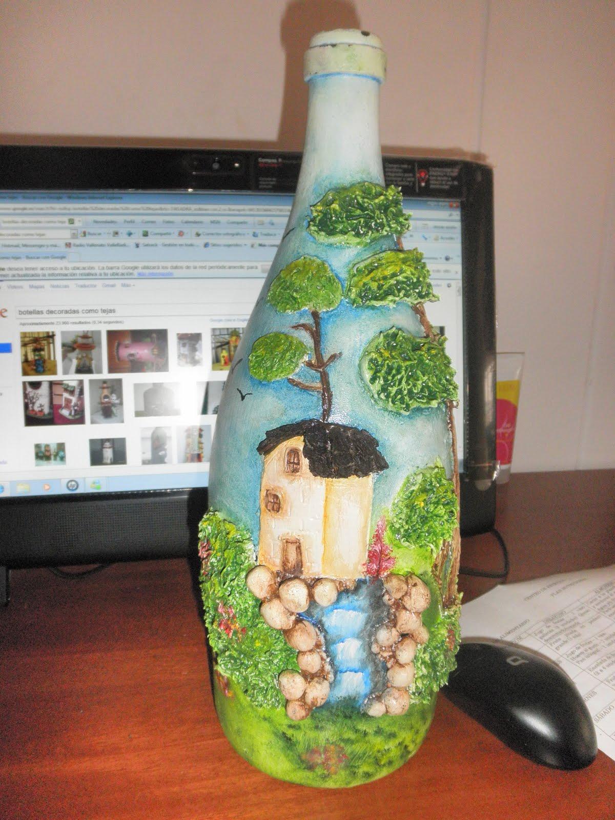 Mi peque o gran rinconcito botellas decoradas for Imagenes de estanques decorados