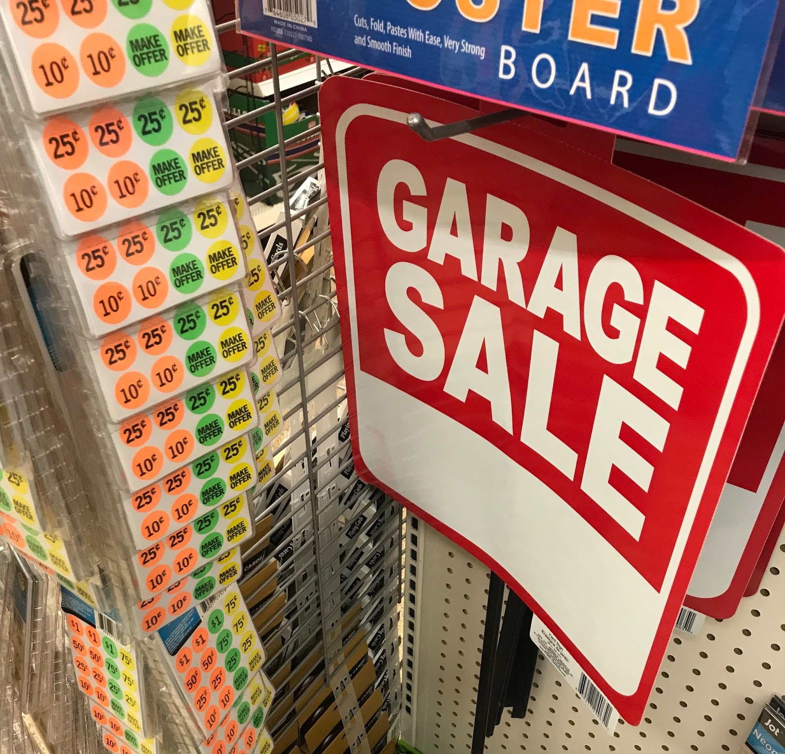 and garage com sale kit pricing walmart sign with stickers stakes wood ip