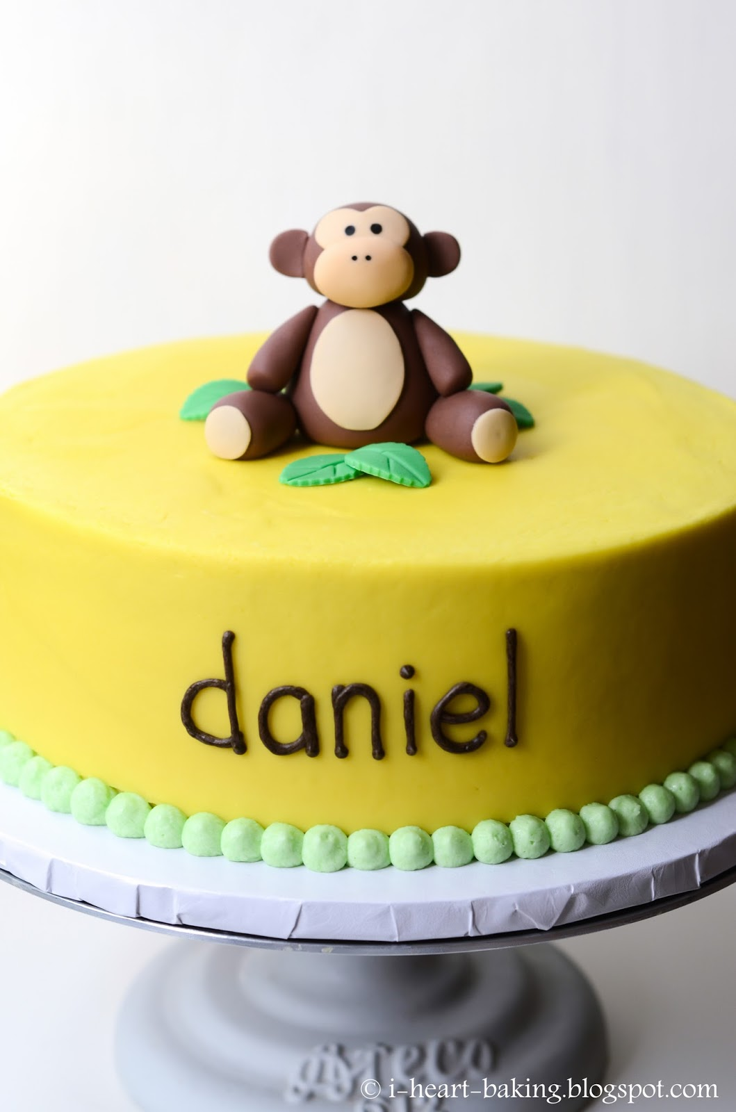 I Heart Baking Banana Cream Birthday Cake With Handmade