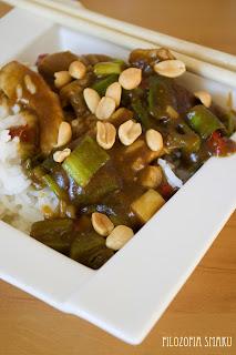 (Stir-fry z wieprzowiną i chili