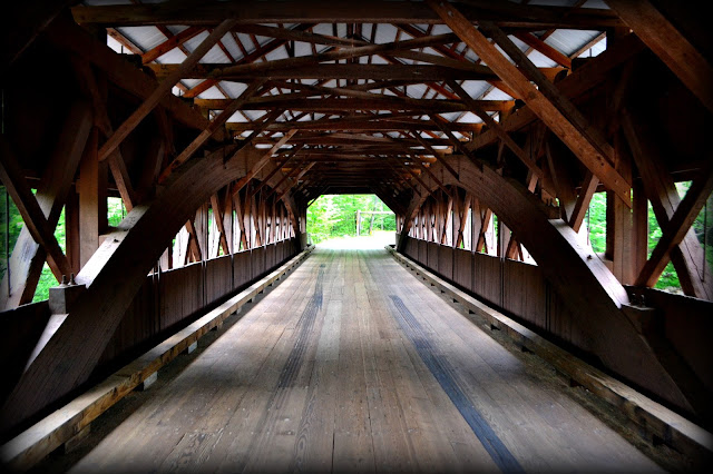 Covered Bridge, Albany, New Hampshire, shadow