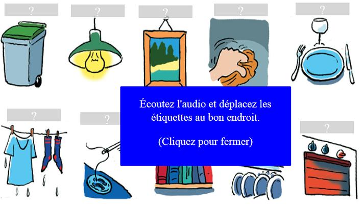 http://www.estudiodefrances.com/taches-menageres/taches-menageres.html