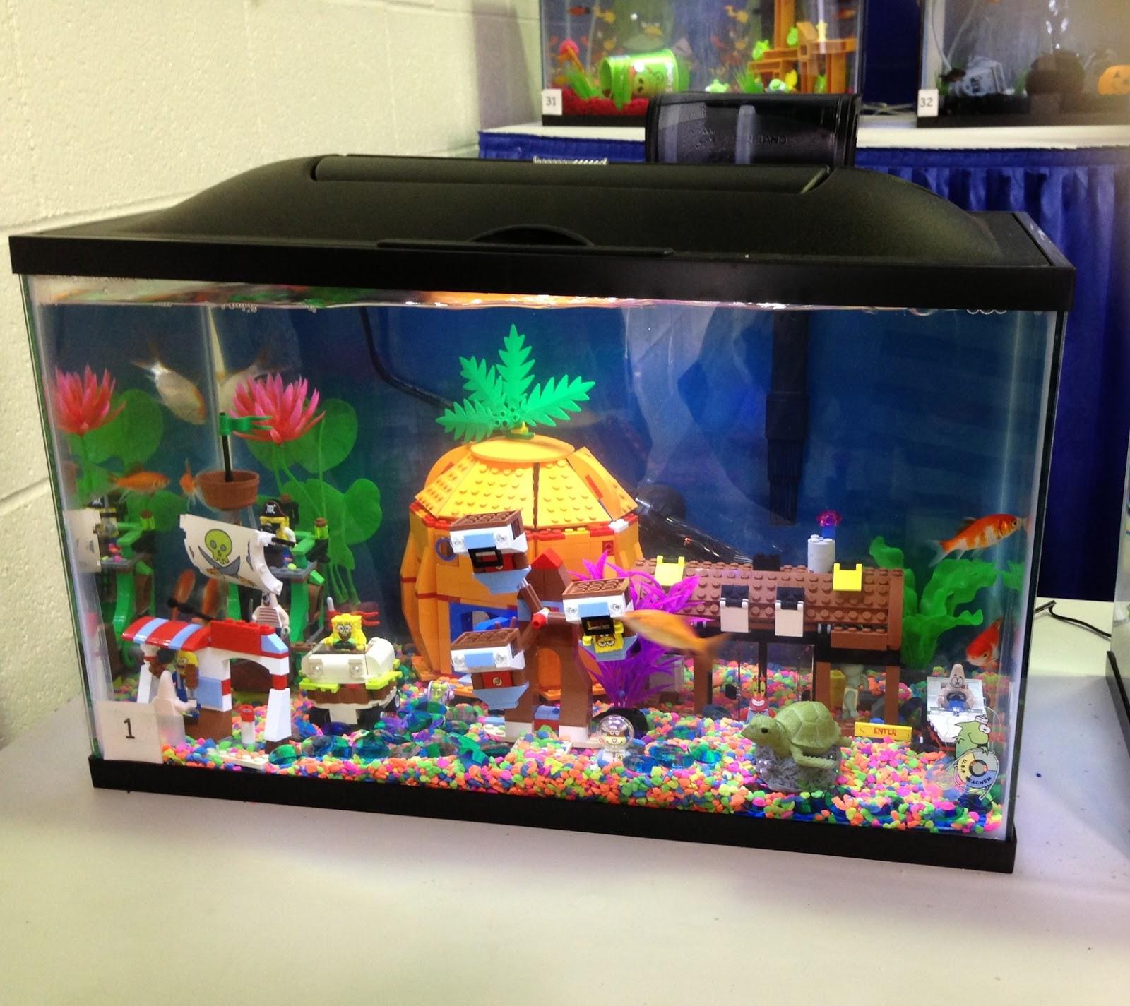 Fish tank decorations spongebob recap america s family for Walmart fish tank decorations