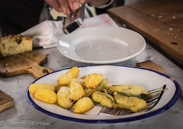 Latteria Studio Rome, Rachel Roddy, Alice Adams, Cookery School Rome, frittura