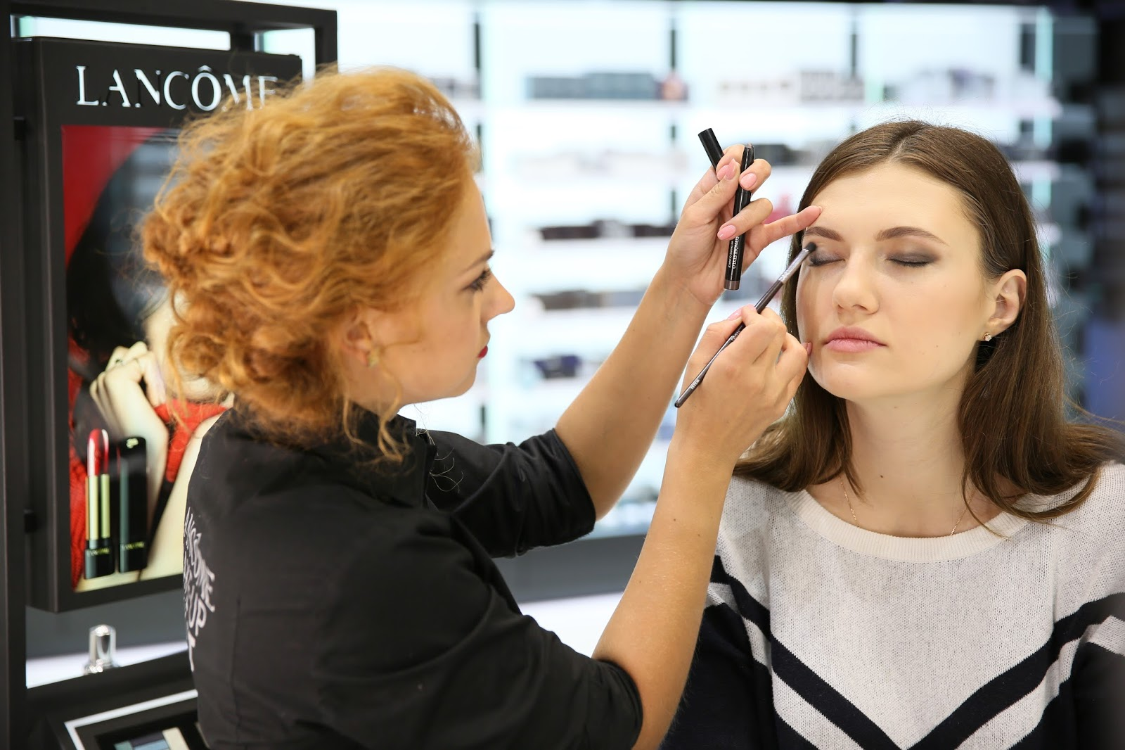 Brocard трц Украина, My Lancome Day, макияжный корнер Lancome, визажист Анастасия Мехеда