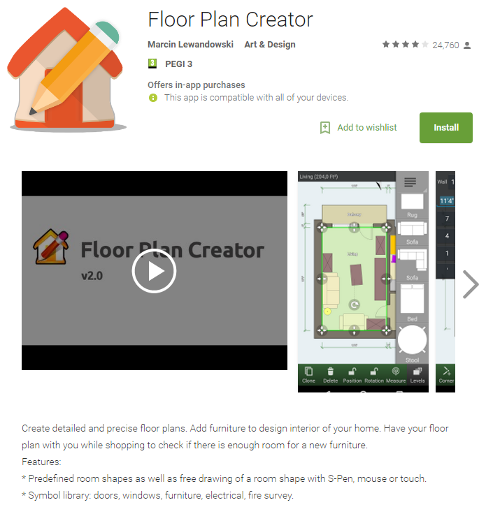 Robin bennett 39 s start software blog asbestos software for Floor plan creator app