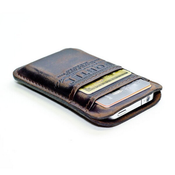Retro Leather Wallet for iPhone iPod and Credit Cards