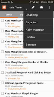 menu app blogger