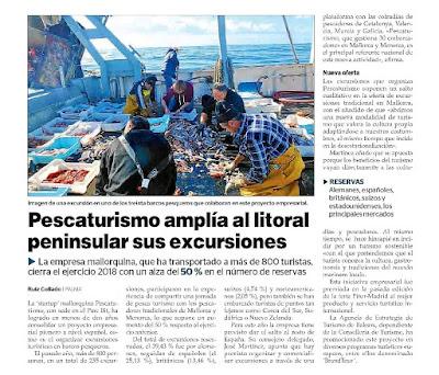 Información del Diario Ultima Hora sobre las excursiones de Pescaturismo