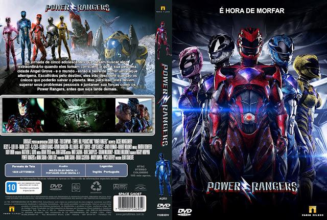 Capa DVD Power Rangers 2017