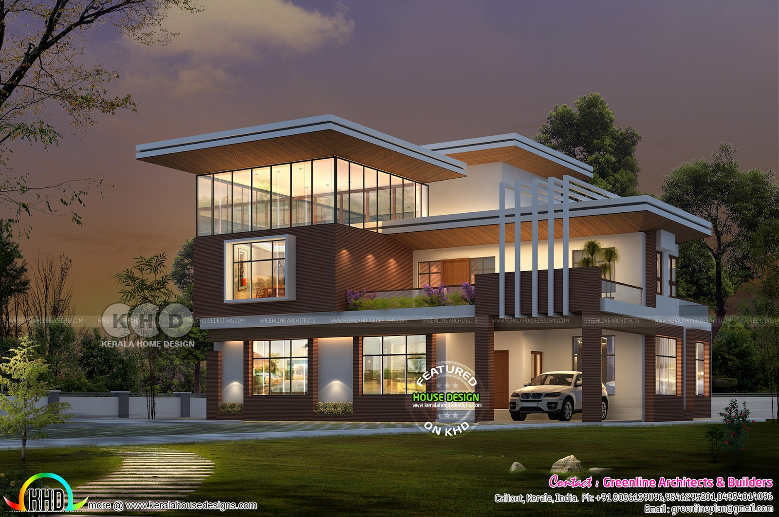 Modern style 5 bedroom contemporary style home design for Modern house 6 part 10