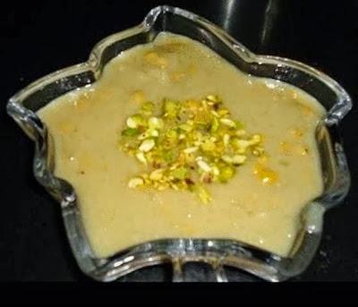 sorekayi payasa in a serving bowl