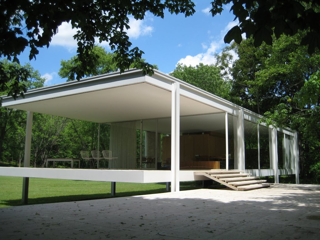 Farnsworth house by mies van der rohe exterior 8 jpg - Her Instructions To The Architect Mies Van Der Rohe Were To Design The House As If It Were For Himself