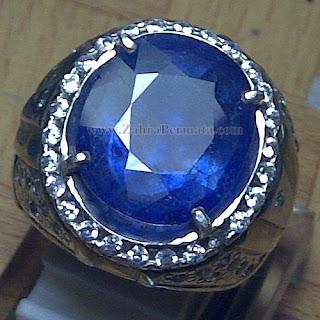 Cincin Batu Permata Blue Safir - ZP-1054