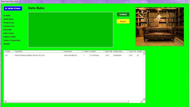 Aplikasi Catatan Buku Perpustakaan Format Excel