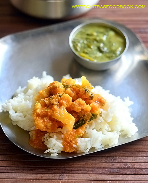 Cauliflower kuzhambu for rice