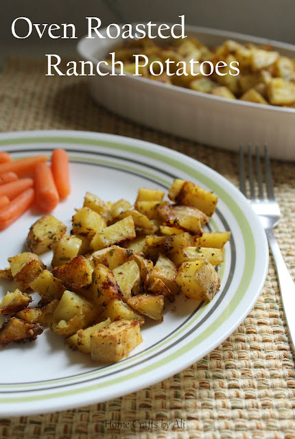 oven roasted ranch potatoes side dish delicious