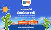 Logo ''E tu che famiglia sei?'' partecipa gratis e vinci buono viaggio e buoni spesa da 25€