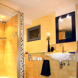 black and yellow bathroom ideas the bath showcase bathroom decorating ideas 23183