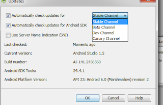 Cara Mengganti Android Studio Update Stable Channel ke versi Canary Channel