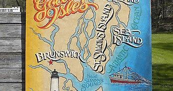 Map Of Georgia Golden Isles.Paradise Falls St Simons Island Day Trip And Brunswick Sunset