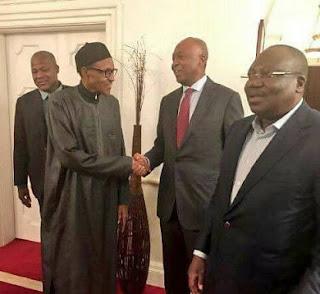 When Saraki Led The National Assembly Leadership Visit To Buhari In UK