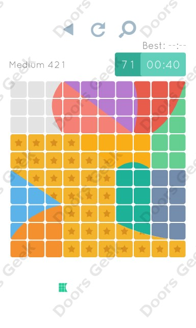 Cheats, Walkthrough for Blocks and Shapes Medium Level 421
