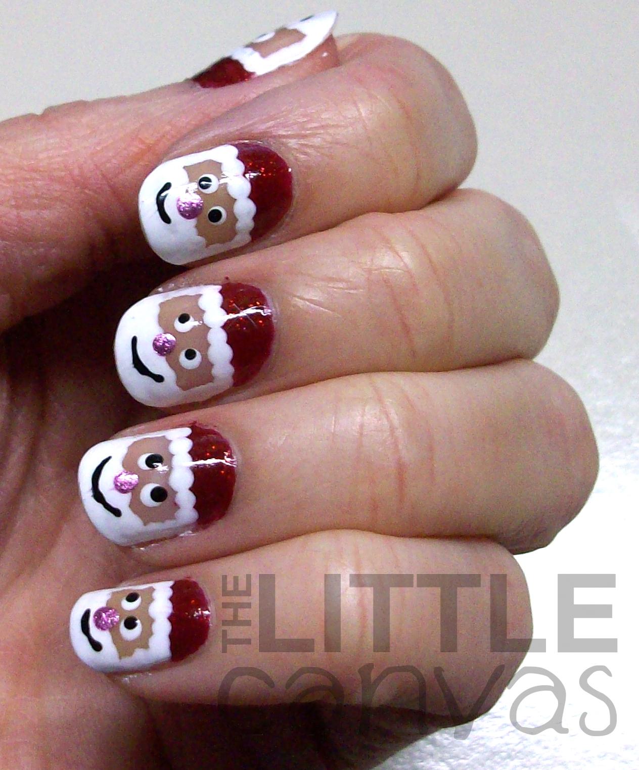 Santa Claus Nail Art The Little Canvas