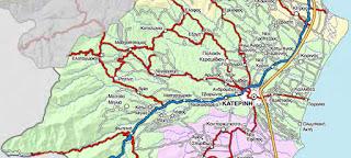 Δείτε ποιοι φορείς έχουν την αρμοδιότητα για την συντήρηση των δρόμων στην Πιερία. (Χάρτες-φώτο)