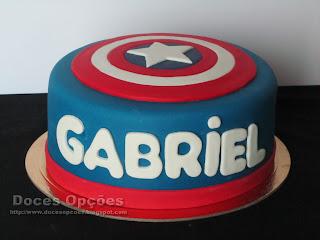 Bolo de aniversário Capitão América