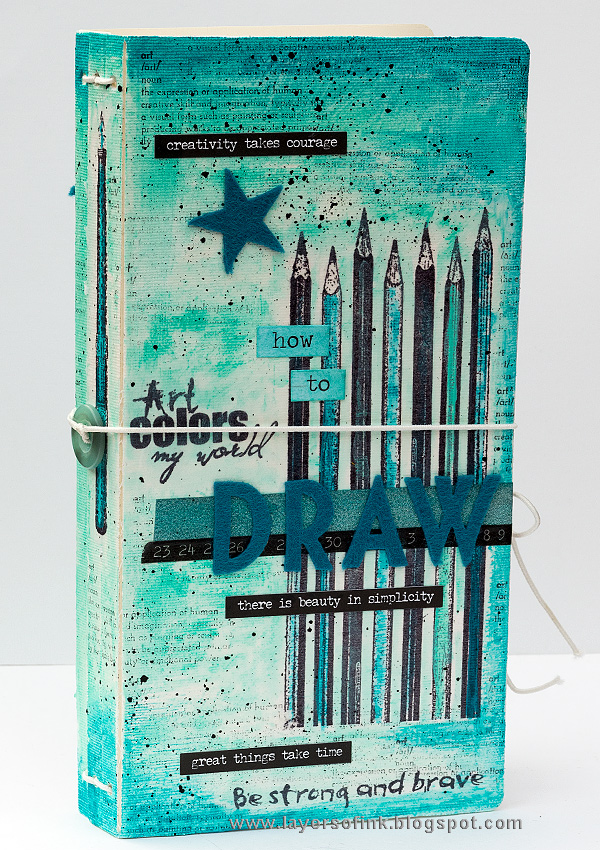 Layers of ink - Handmade Sketchbook Journal Tutorial by Anna-Karin