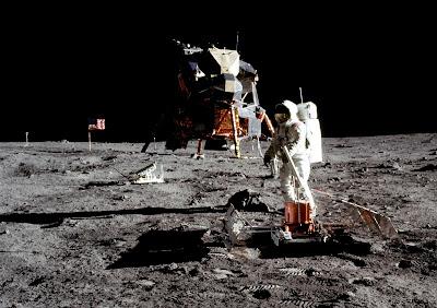 Moon landing, photo provided by NASA