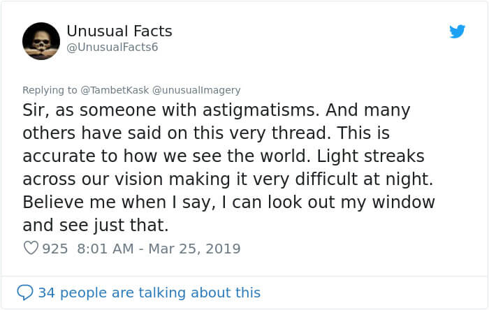 People Realize They Have Astigmatism Thanks To A Viral Comparison Photo